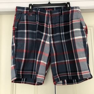 Men's Merona Cotton Plaid Shorts Sz 38